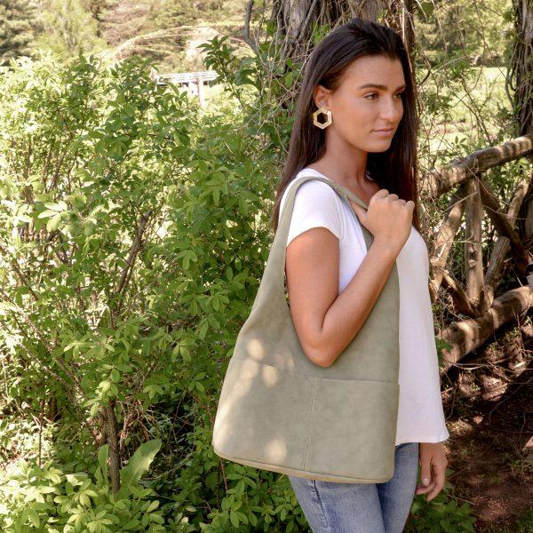 af7c8991e756 Jenny Faux Suede Hobo Handbag | Joy Susan